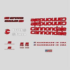 cannondale caad 5 fahrrad abziehbilder, transfers, aufkleber: rot n.10