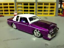 """1/64 1987 Buick T-Type in Candy Magenta/White Vinyl Top/Turbo Charged V6/18""""Dubs"""