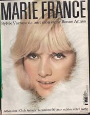 ▬►MARIE FRANCE 119 de 1966 SYLVIE VARTAN_LA REINE HORTENSE_MODE FASHION VINTAGE