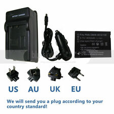 Battery + Charger for Panasonic Lumix DMC-ZS15 DMC-ZS19 DMC-ZS20 Digital Camera