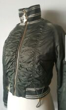 NWT Baby Phat Women's Winter Bomber Jacket Lined Green Size M