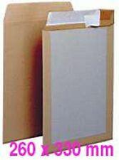 10 Pochettes DOS CARTON (enveloppes) 24 260 x 330 Kraft