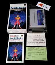 SOUL BLADER Super Famicom Nintendo SNES SFC COMPLETO Jap Enix