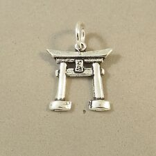 .925 Sterling Silver TORII GATE CHARM NEW Japanese Shinto Shrine 925 TR66