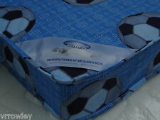 2FT6 SHORTY SHORT SINGLE  BUDGET MATTRESS BLUE FOOTBALL BRAND NEW UK FIRE REGs