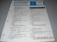 TELEFUNKEN Receiver Concertino HiFi 401 Service Manual