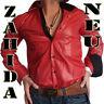 """ Zahida "" Men's Shirt Mens Business Red Black gglanz Long Sleeve S M L XL XXL"