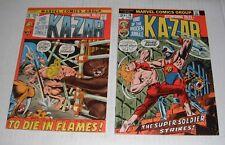 Astonishing Tales # 10 + 19...VF grade--A......1972 Ka-Zar comic books
