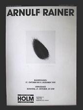 ARNULF RAINER >Plakat`90< HAND-SIGNIERT Multiple Offset, 74x54cm mit Rahmen