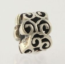 Chamilia Bead Charm Sterling Silver GA-82 Coil 925 Scroll Work Women's Collector