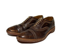 Allen Edmonds Strandmok Brown Leather Size 13 Oxford Lace Up Shoes Dainite Soles