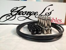 George L's 155 Guitar Pedal Cable Kit .155 Black / Black / Nickel - 10/10/5