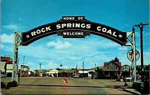 Postcard Arch Greetings to Coal Mining Town of Rock Springs, Wyoming~890
