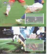 5 Sporthilfe Markenheftchen 2003 mit je 4 Marken (ESSt Berlin) Fußball WM 2006