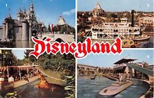 Disneyland Postcard Multiview sub jungle cruise hippo castle keel boat 0-1A