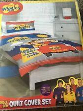 THE WIGGLES BIG RED CAR SINGLE / Twin bed QUILT DOONA DUVET COVER SET NEW