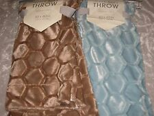 Mink Soft Honey Comb Patterned Throw Blanket 50x60 Warm Cozy Polyester NEW!