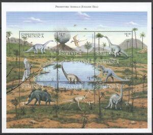 Dominica 1999 MNH SS, Prehistoric Animals, Birds, Flying Dinosaurs