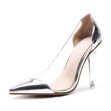 Edel Pumps Damen Schuhe Bankett Spitz Halbschuhe Transparent High Heels 33-48