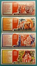 Russia ( USSR) - 1976 set of 4 MNH stamps XXV Communist conference serie