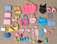 1980s and 1990s Vintage Barbie Bags, Purses, and Beauty Accessories (42 pieces!)