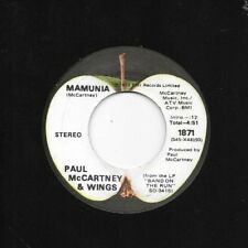 PAUL McCARTNEY * 45 * Jet / Mamunia * 1973 #1 * VG+ Apple USA ORIGINAL VINYL !