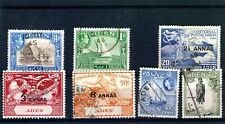 Aden, small lot of better stamps on stockcard good to fine used