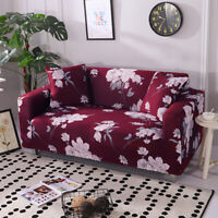 Elegant Peony Slipcover Sofa Stretch Couch Cover Bedroom Furniture Protector New