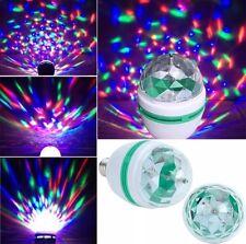 2 X Novelty RGB LED Disco Light Bulb Rotating Coloured 3W Light bulb Christmas