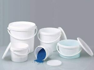Plastic Buckets Tubs Containers with Tamper Evident Lids 1L - 3L - 5.6L