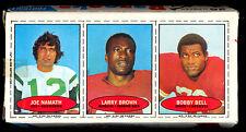 1971 TOPPS opc Bazooka Football Complete Box w/ Joe Namath jets Larry Brown Bell