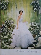 1951 Modess because women's sanitary napkins bride evening gown ad