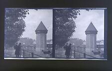 Suisse Lucerne Luzern 3 Photos stéréo négatifssur film souple 1911