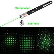 Green pointer star light work light 2 AAA Green Laser Star lens office Pens Hot
