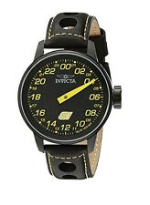 New Mens Invicta 17699 S1 Rally Swiss Quartz Black Yellow Dial Watch