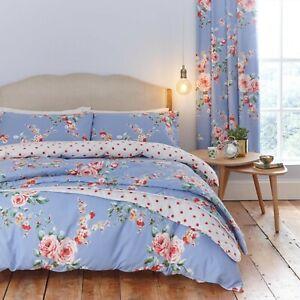 Catherine Lansfield Canterbury Blue - Duvet Bedding Set