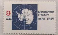 Antarctic Treaty 8 Cents US Postage Stamp  / Single / MNH