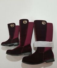 MICHAEL KORS EMMA LILY T GIRLS SUEDE PLUM (burgandy) BOOTS YOUTH SIZE 2 BIG KIDS
