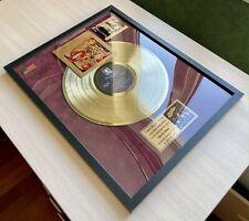 Steely Dan Can't Buy A Thrill Framed Gold Vinyl Record On Red Velvet Background