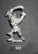 Warhammer Citadel Metal F5 Chaos Marauder Guerrero Kraan headcleaver 1985 B 102