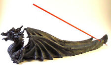 Dragon Incense Burner Resin Medieval Fantasy Sculpture Gothic Home Decor