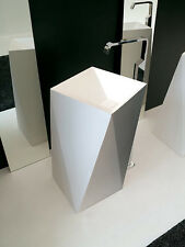 Lavandino Lavabo Centro Stanza Design Sharp Ceramica Bianca Lucida 50x85x50 cm