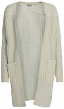 DELICATELOVE COSY LONG CARDIGAN STRICKJACKE GR. S OFFWHITE DELICATE LOVE