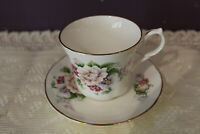 LOVELY SPRINGFIELD ENGLAND FLORAL TEA CUP AND SAUCER