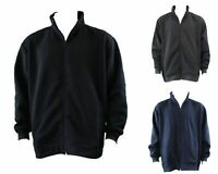 Men's Big & Tall Plus Size Zip Up Sweater Jumper Sports Jacket 3XL - 6XL
