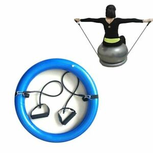 Yoga Ball Fitness Ring With Straps For Pilates Balance Exercise Workout Home Gym