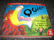 QUIET! BY PAUL BRIGHT  SOFTCOVER  BOOK WITH CD BRAND NEW