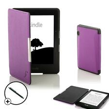 Forefront Cases Purple Smart Shell Case Cover for Amazon Kindle Voyage + Stylus