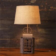 New Primitive Country Farmhouse RUSTY CANDLE LANTERN LAMP Electric Table Light