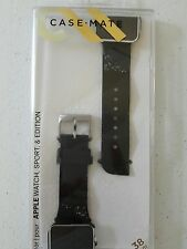 Casemate Facets Replacement Band for Apple Watch Black Glitter 38mm NEW
